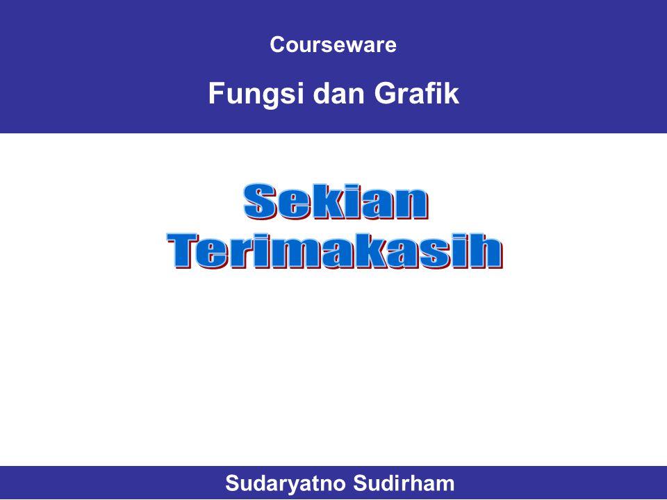 Courseware Fungsi dan Grafik Sekian Terimakasih Sudaryatno Sudirham