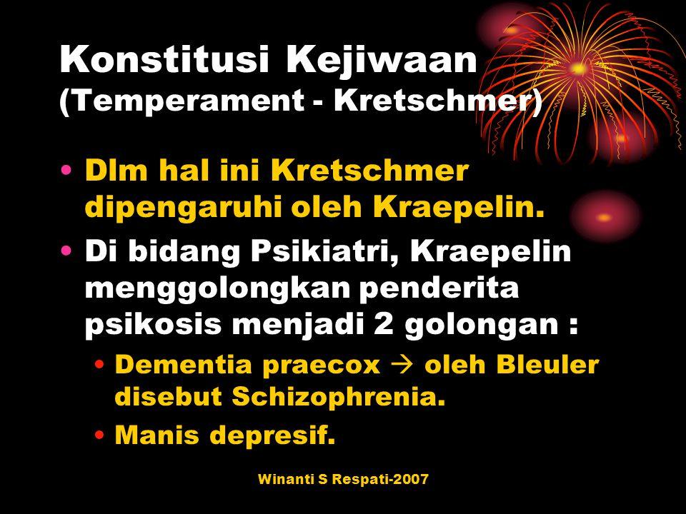Konstitusi Kejiwaan (Temperament - Kretschmer)