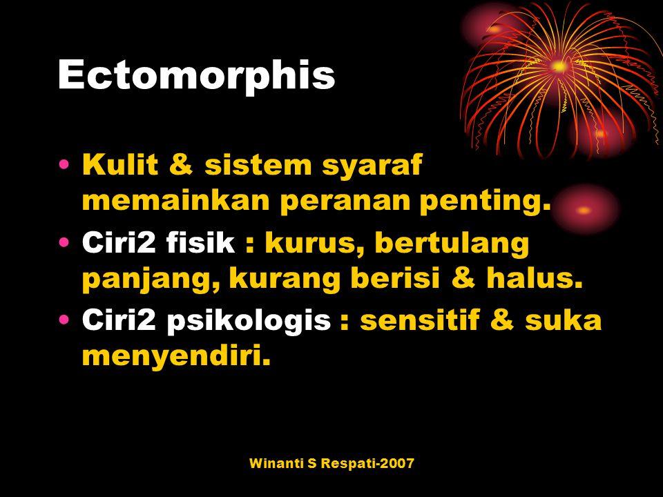 Ectomorphis Kulit & sistem syaraf memainkan peranan penting.