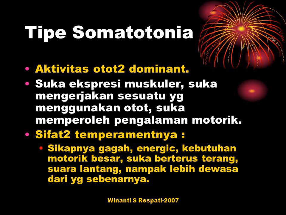 Tipe Somatotonia Aktivitas otot2 dominant.