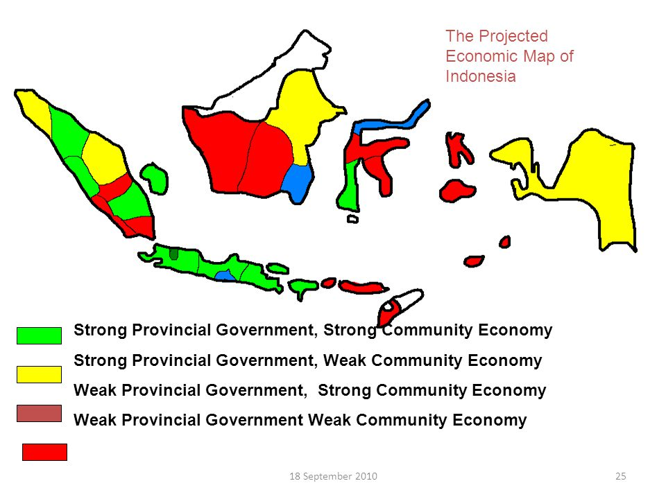The Projected Economic Map of Indonesia
