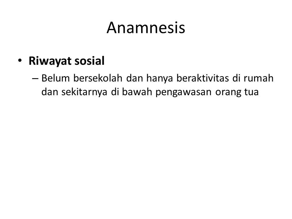 Anamnesis Riwayat sosial