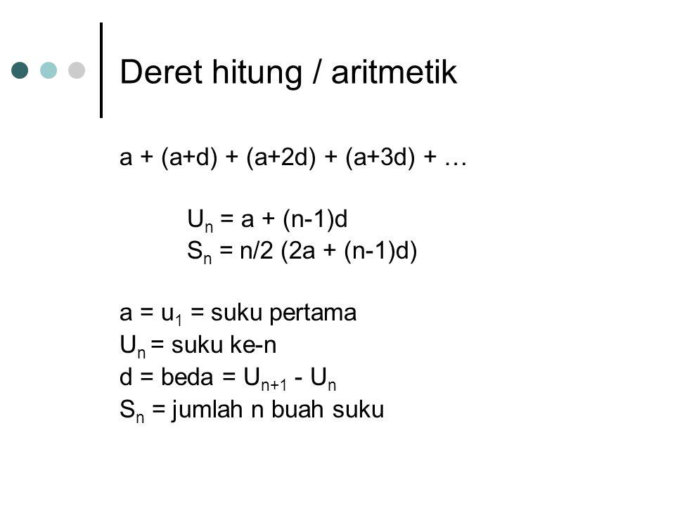 Deret hitung / aritmetik