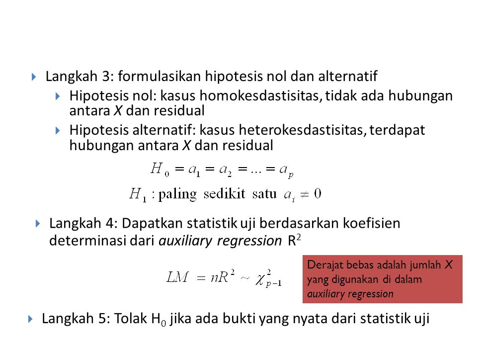 Langkah 3: formulasikan hipotesis nol dan alternatif