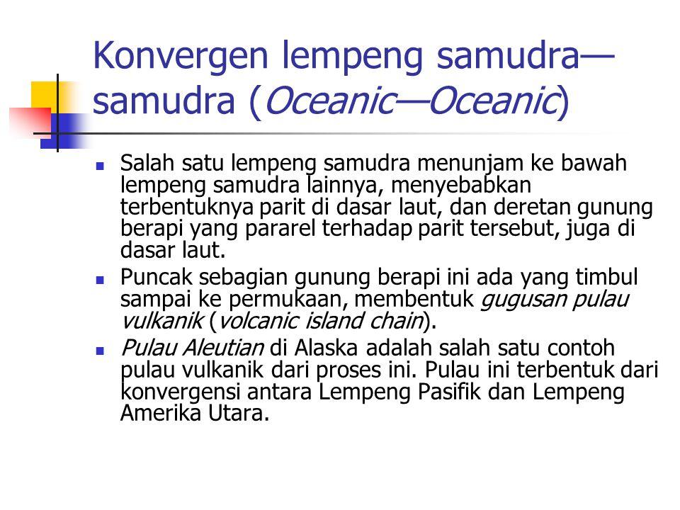Konvergen lempeng samudra—samudra (Oceanic—Oceanic)