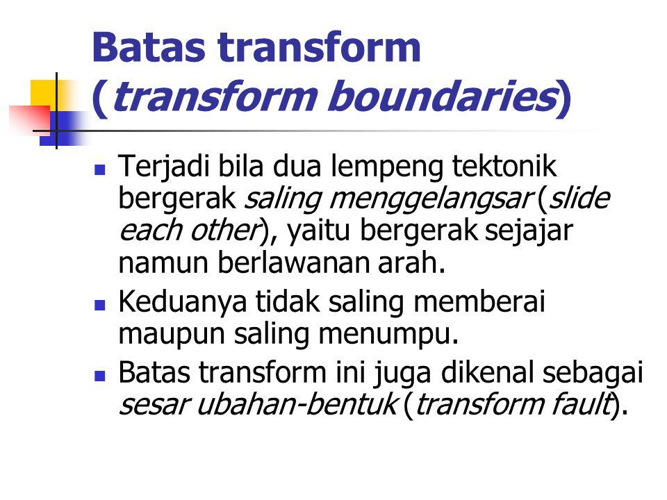 Batas transform (transform boundaries)