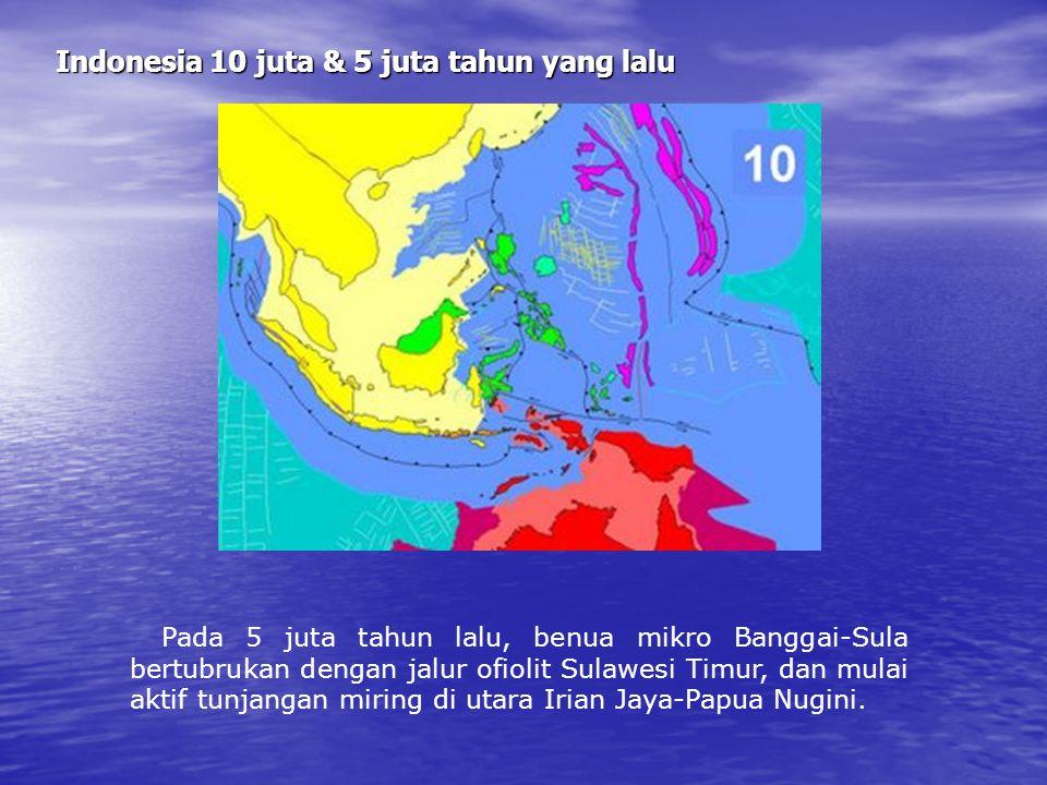 Indonesia 10 juta & 5 juta tahun yang lalu