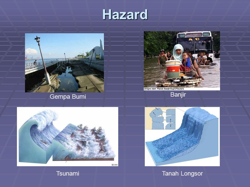 Hazard Banjir Gempa Bumi Tsunami Tanah Longsor