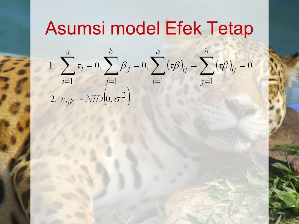 Asumsi model Efek Tetap