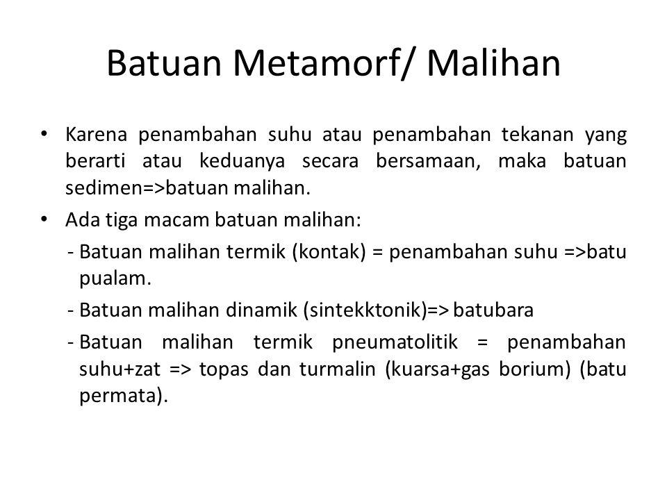 Batuan Metamorf/ Malihan