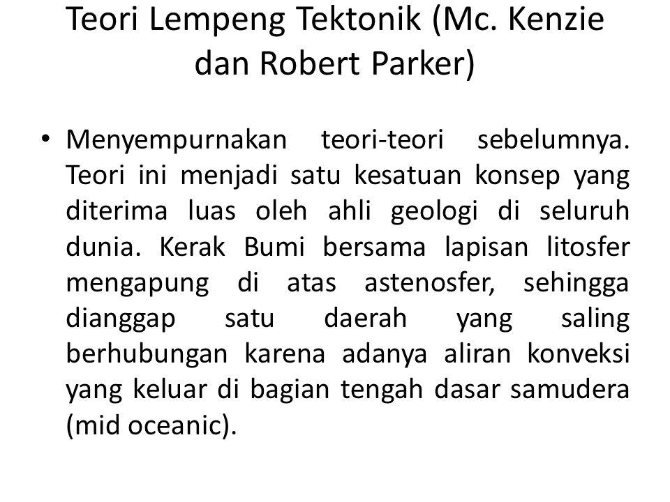 Teori Lempeng Tektonik (Mc. Kenzie dan Robert Parker)