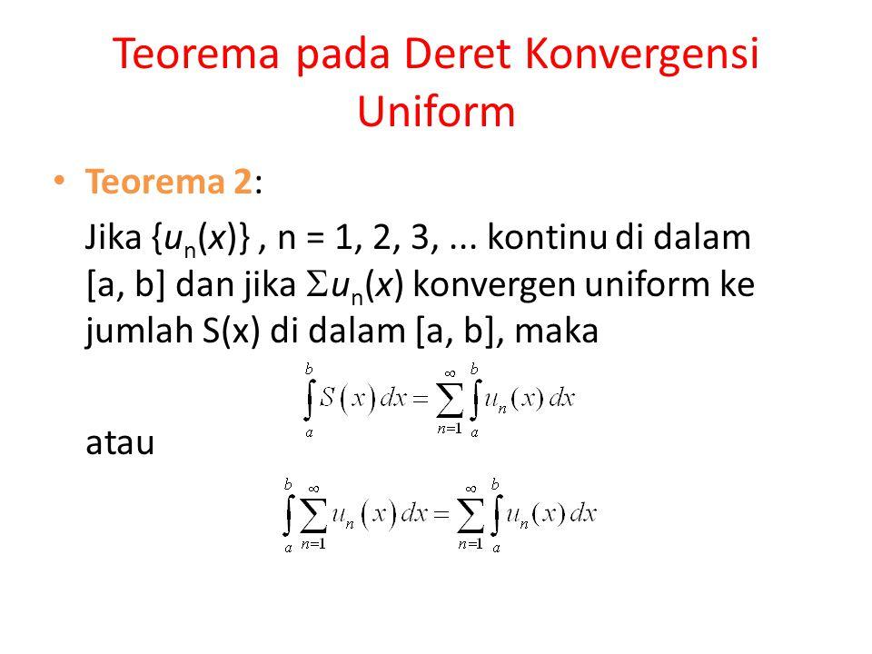 Teorema pada Deret Konvergensi Uniform