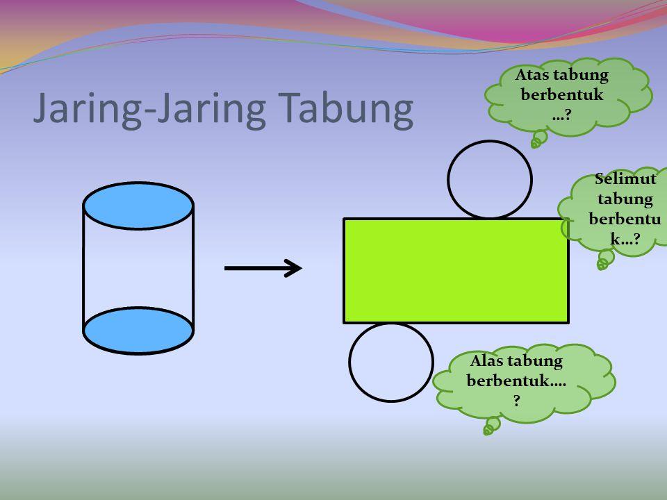 Jaring-Jaring Tabung Atas tabung berbentuk…