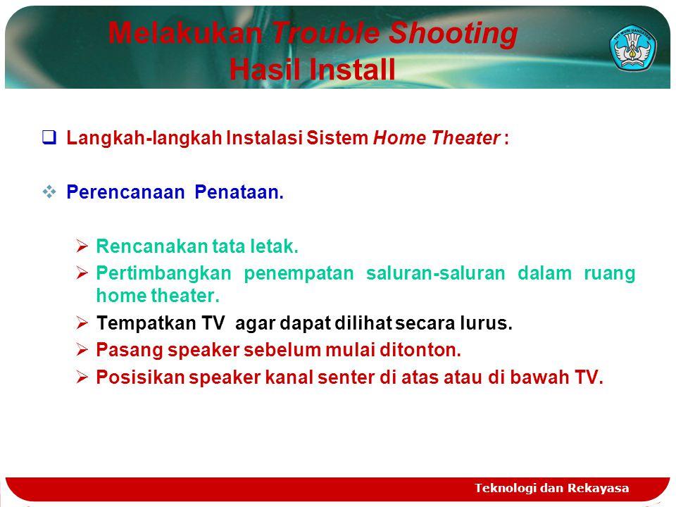 Melakukan Trouble Shooting Hasil Install