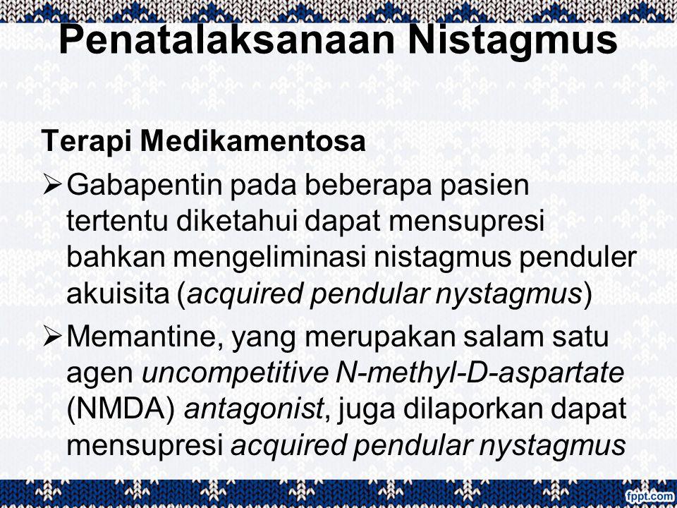 Penatalaksanaan Nistagmus