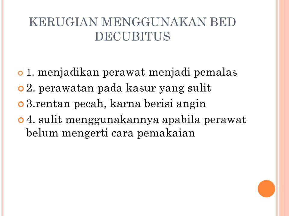 KERUGIAN MENGGUNAKAN BED DECUBITUS