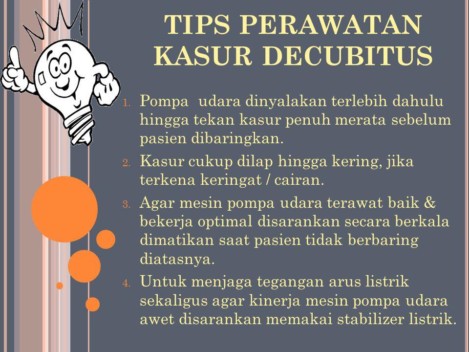TIPS PERAWATAN KASUR DECUBITUS