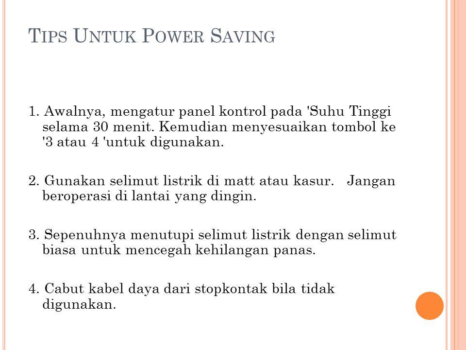 Tips Untuk Power Saving