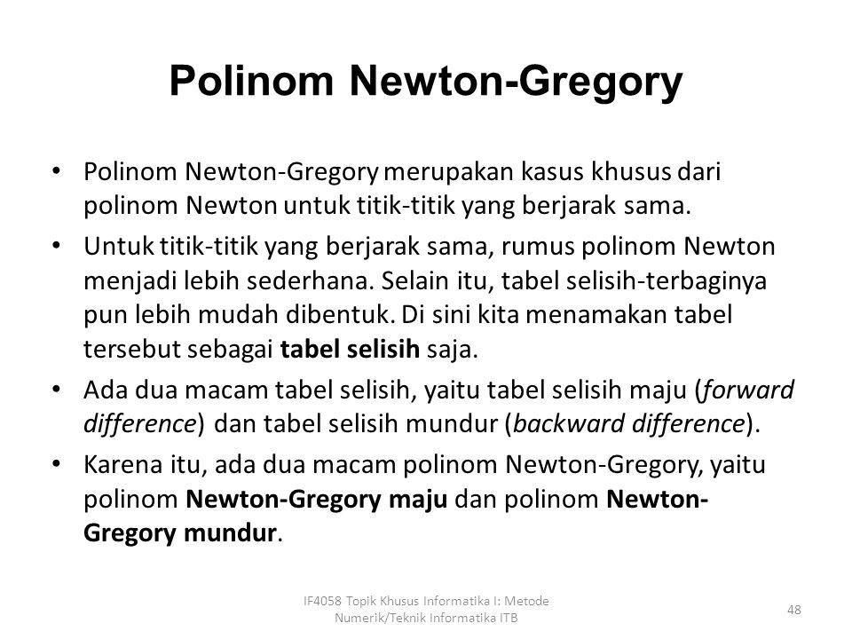 Polinom Newton-Gregory
