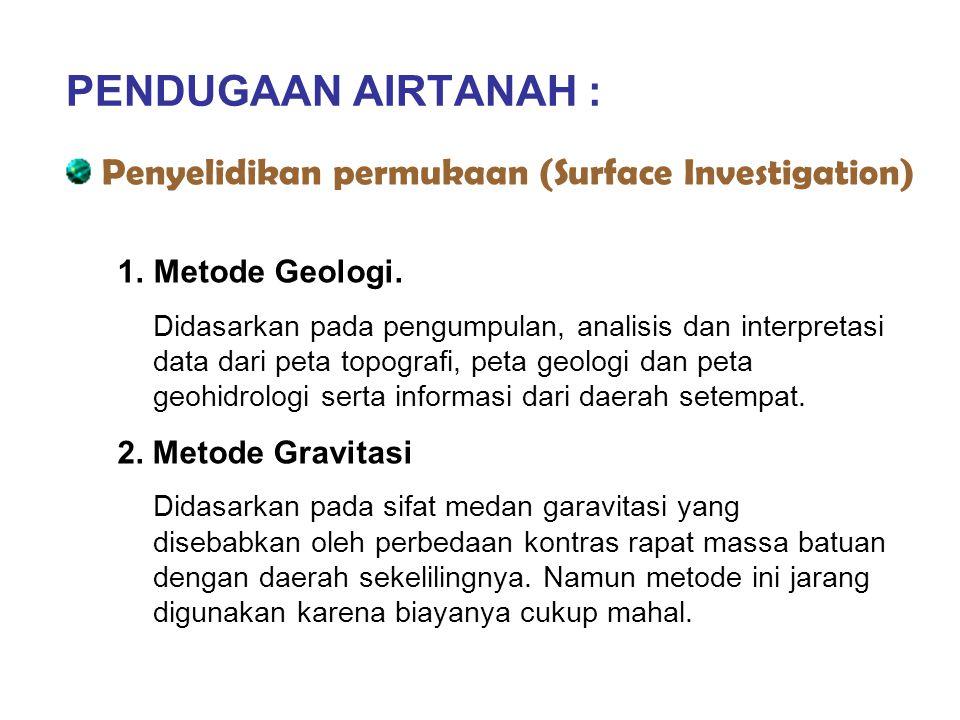 PENDUGAAN AIRTANAH : Penyelidikan permukaan (Surface Investigation)