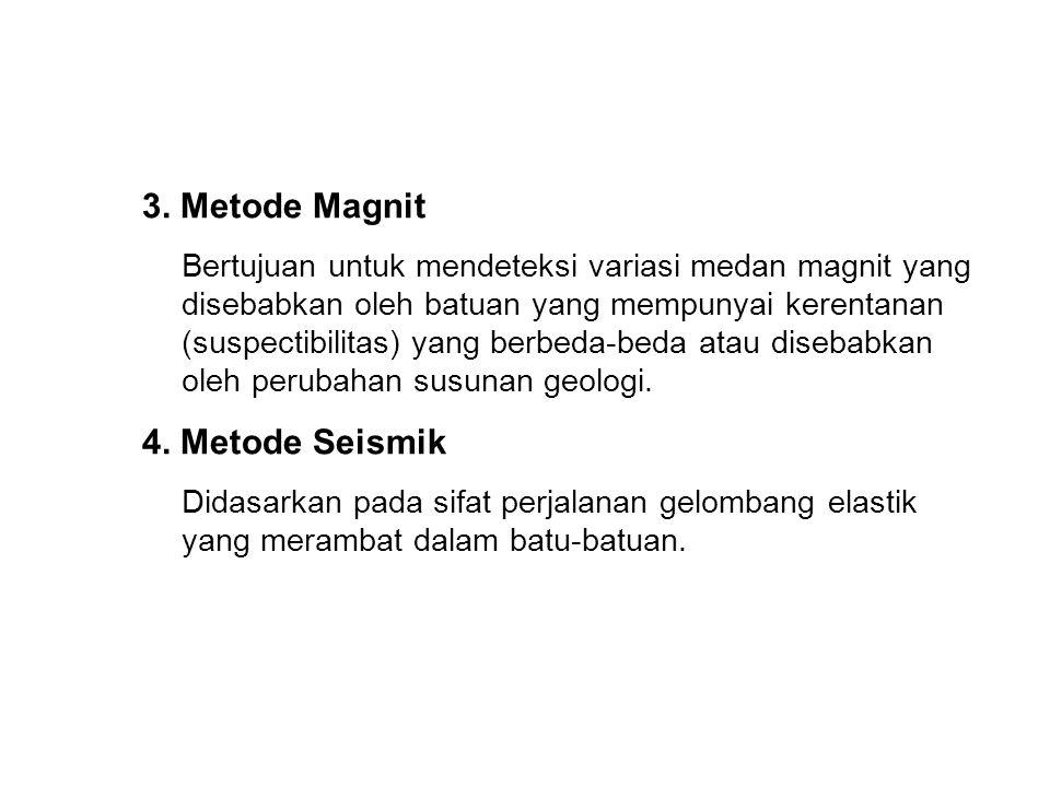 3. Metode Magnit 4. Metode Seismik