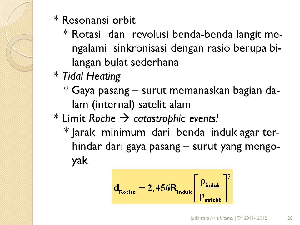 langan bulat sederhana * Tidal Heating