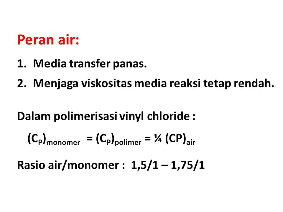 Peran air: Media transfer panas.