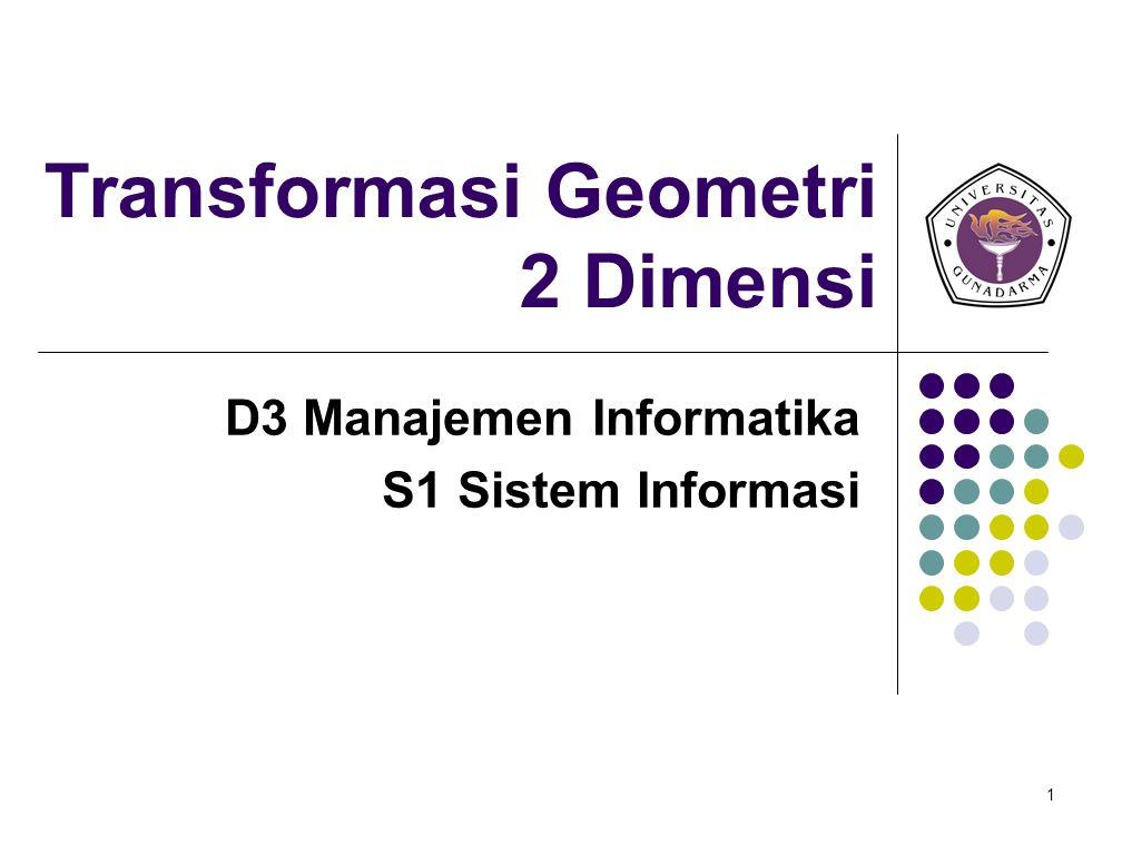Transformasi Geometri 2 Dimensi
