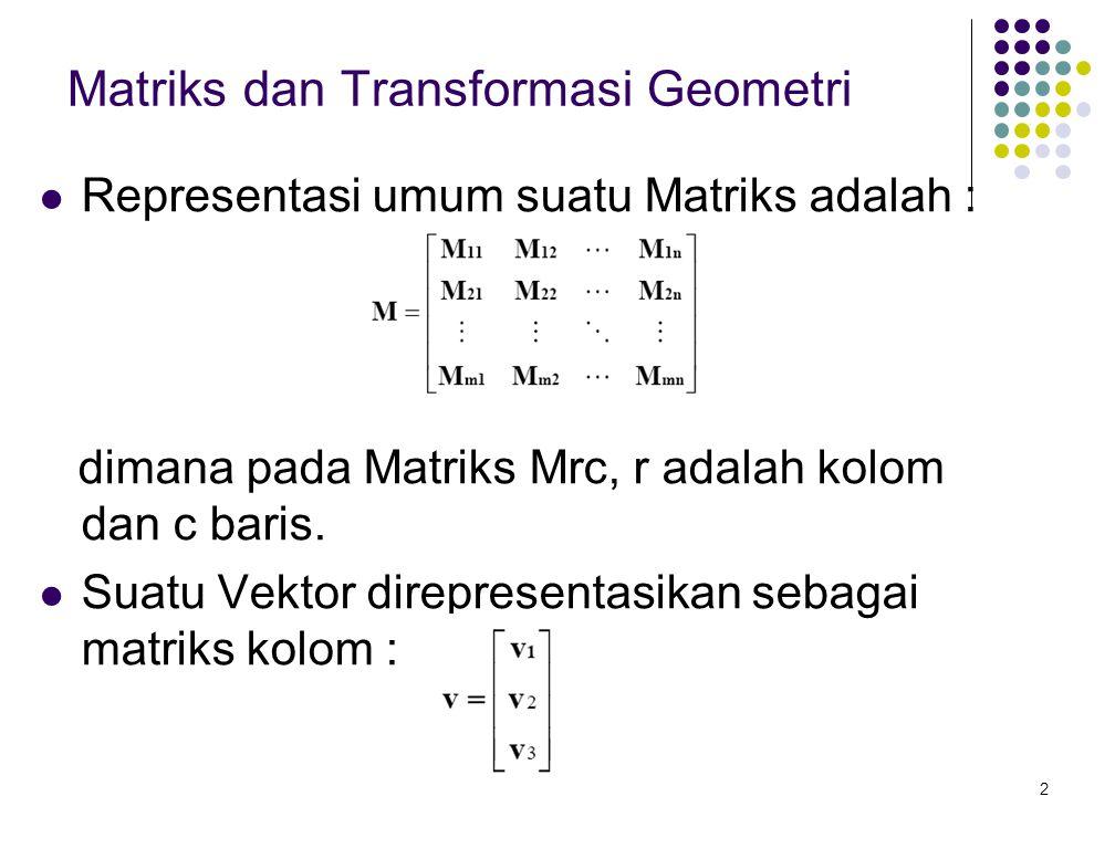 Matriks dan Transformasi Geometri