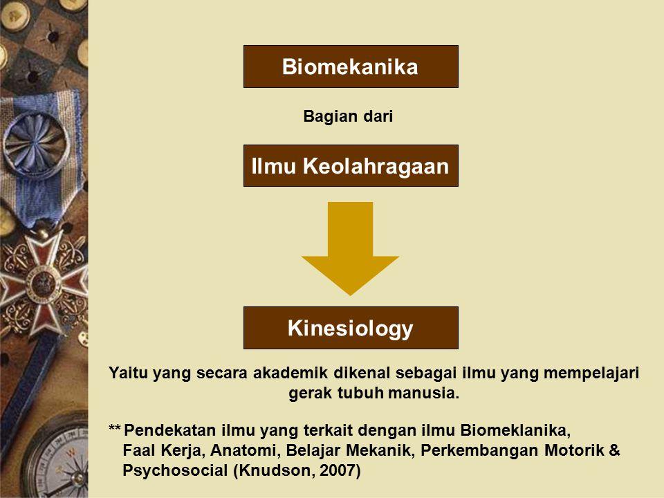 Biomekanika Ilmu Keolahragaan Kinesiology