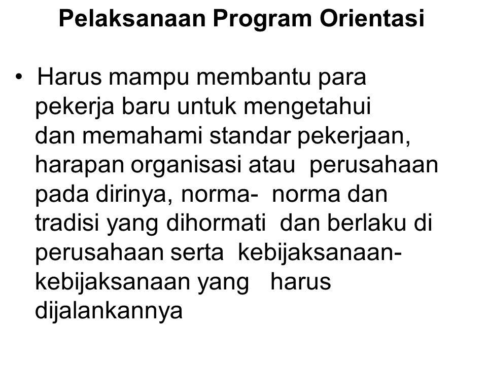 Pelaksanaan Program Orientasi