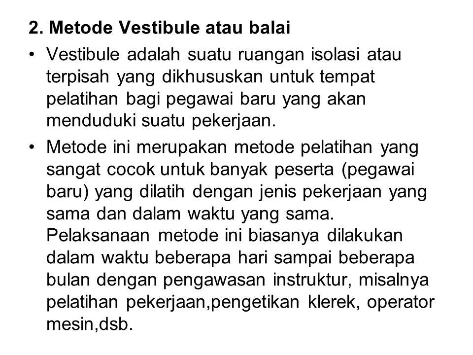 2. Metode Vestibule atau balai