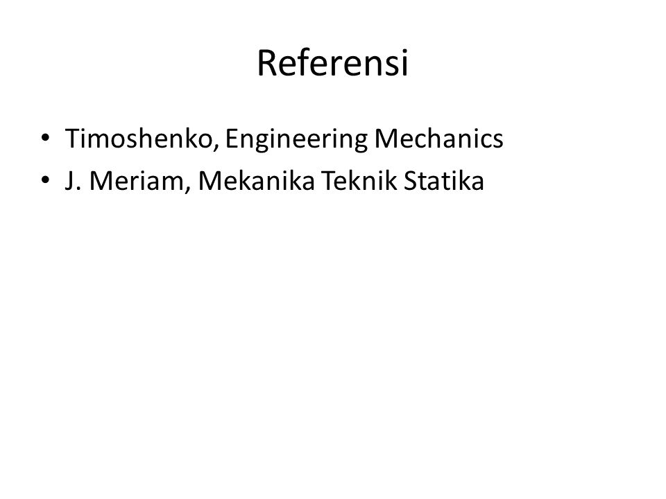 Referensi Timoshenko, Engineering Mechanics