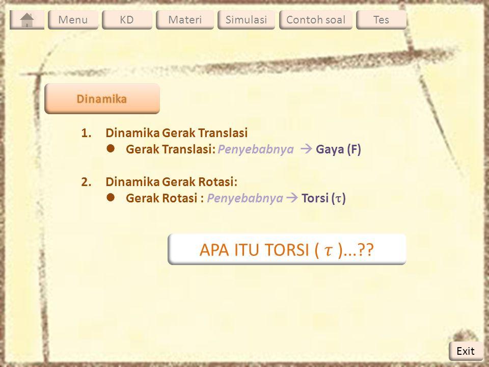 APA ITU TORSI ( 𝜏 )... Dinamika Gerak Translasi