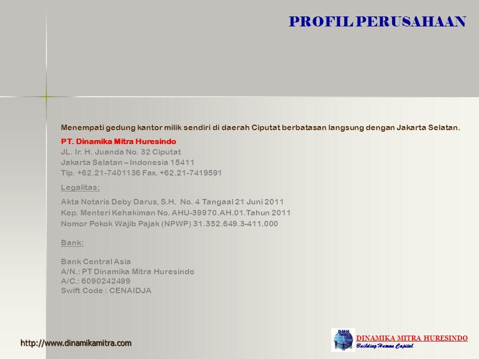 PROFIL PERUSAHAAN Menempati gedung kantor milik sendiri di daerah Ciputat berbatasan langsung dengan Jakarta Selatan.