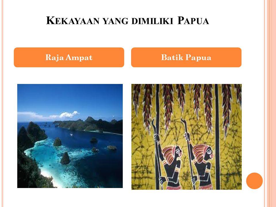 Kekayaan yang dimiliki Papua