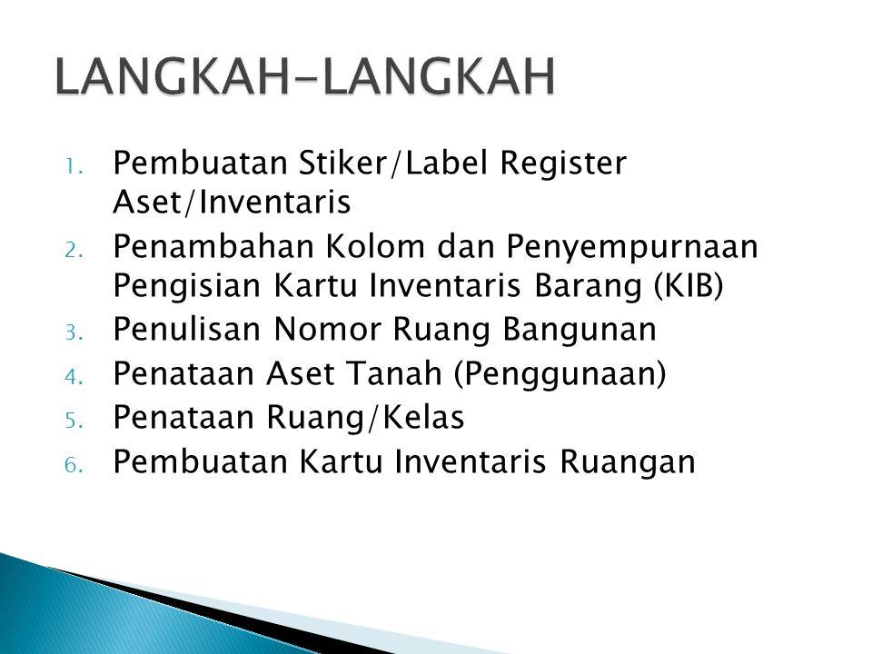 LANGKAH-LANGKAH Pembuatan Stiker/Label Register Aset/Inventaris