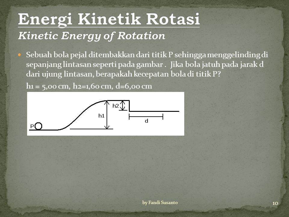 Energi Kinetik Rotasi Kinetic Energy of Rotation