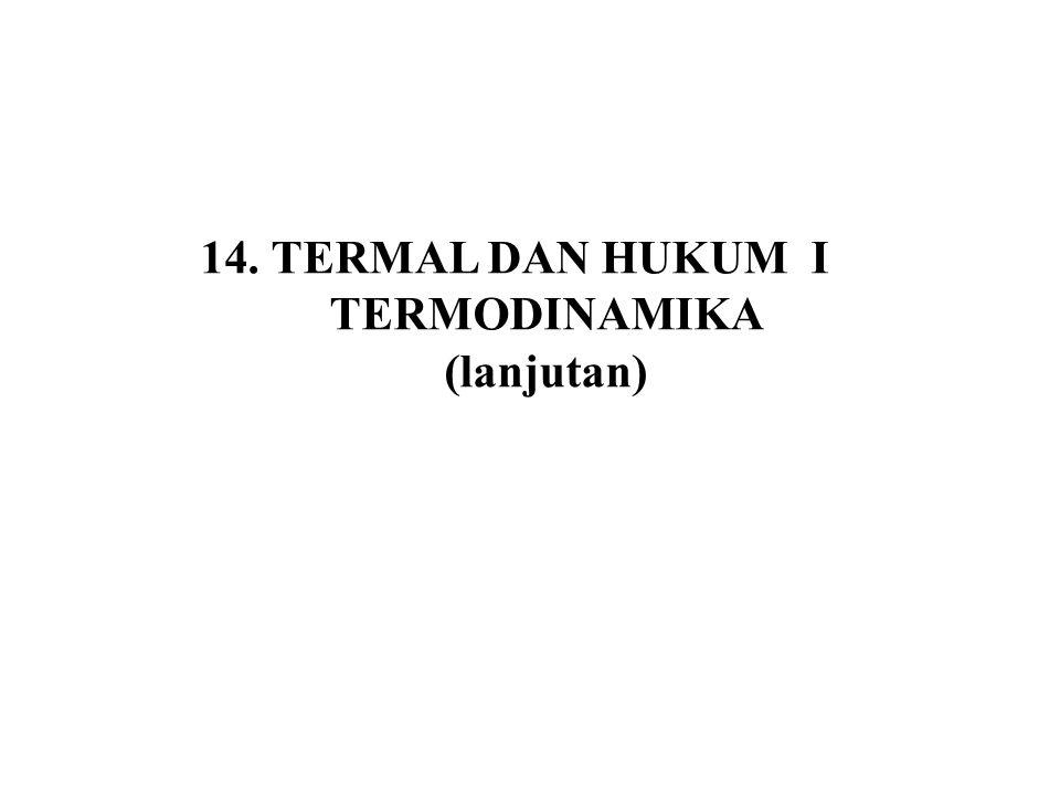 TERMAL DAN HUKUM I TERMODINAMIKA (lanjutan)