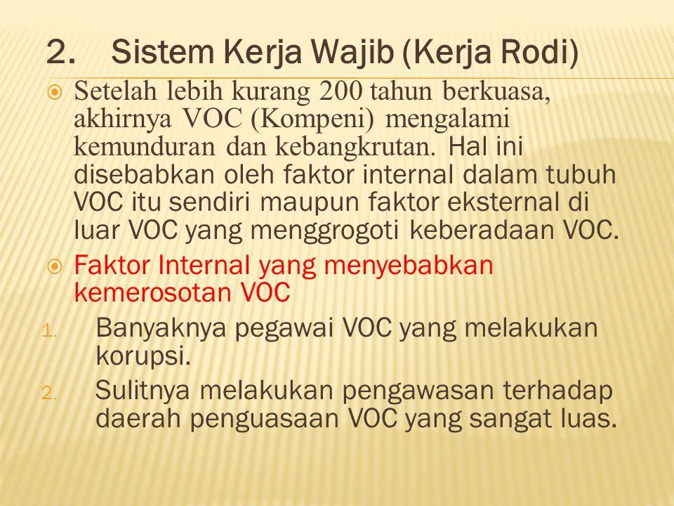 2. Sistem Kerja Wajib (Kerja Rodi)