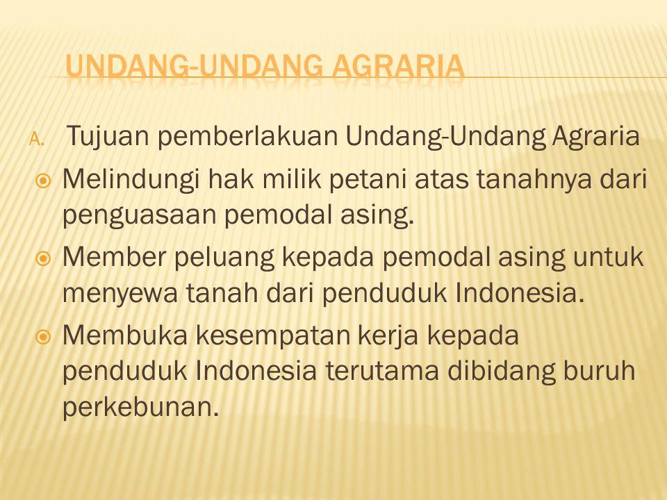 Undang-undang Agraria