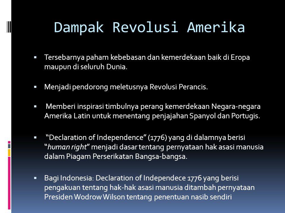 Dampak Revolusi Amerika
