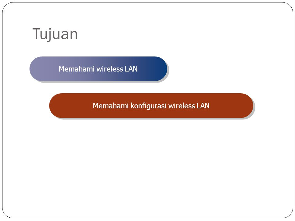 Memahami konfigurasi wireless LAN