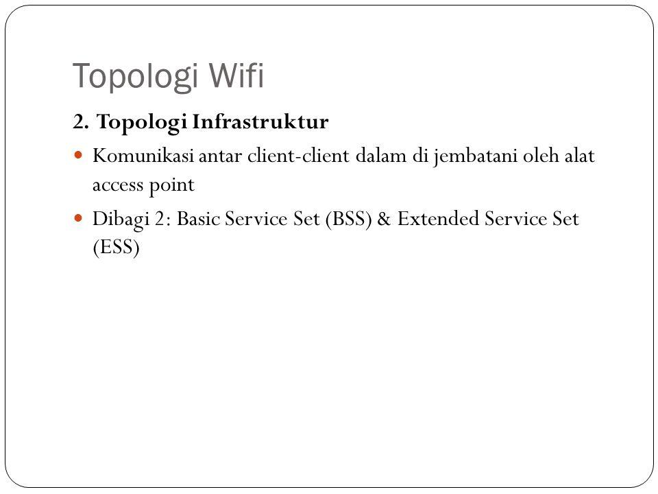 Topologi Wifi 2. Topologi Infrastruktur