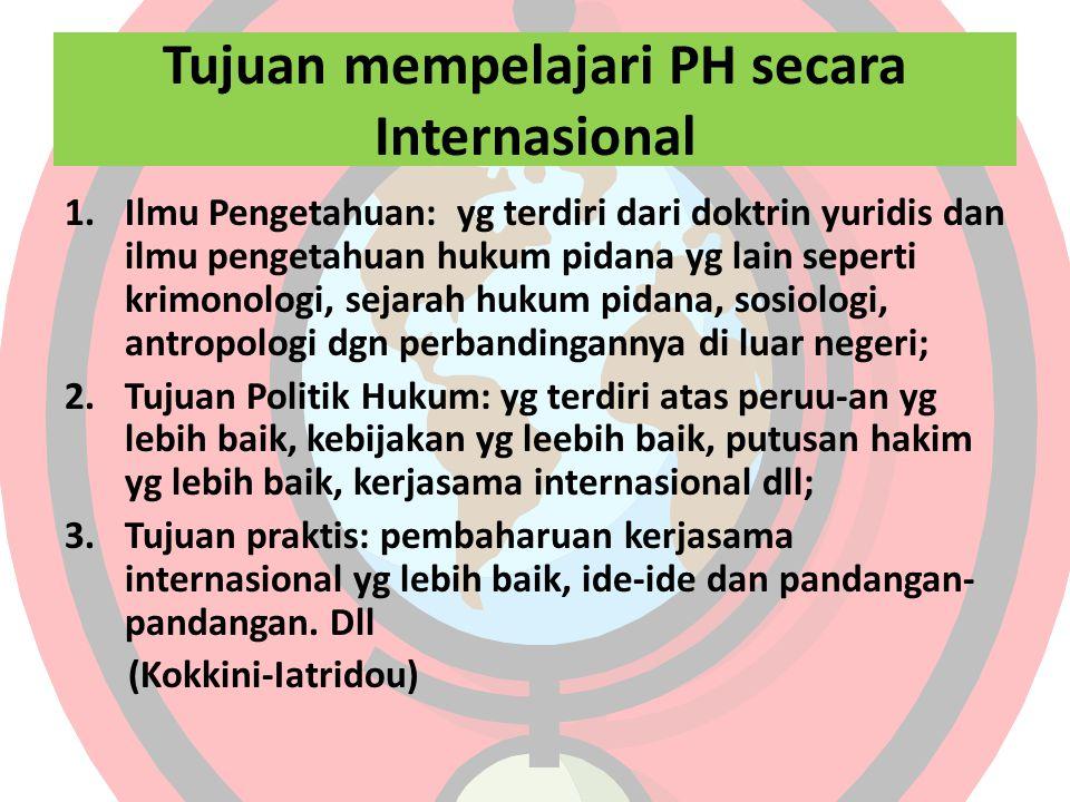 Tujuan mempelajari PH secara Internasional