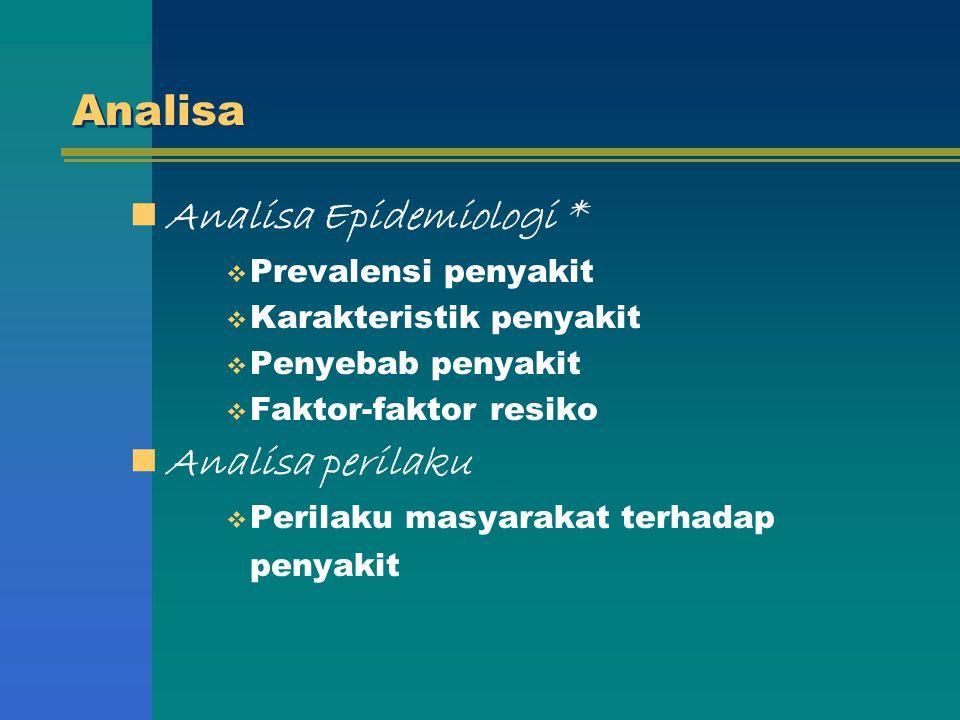 Analisa Epidemiologi *