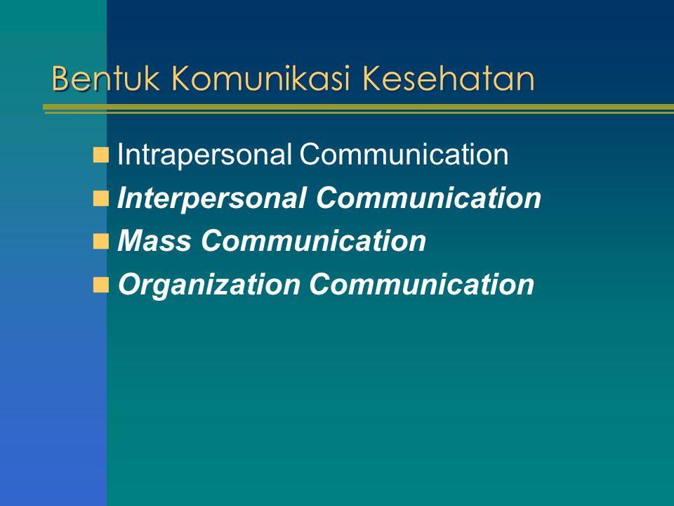 Bentuk Komunikasi Kesehatan