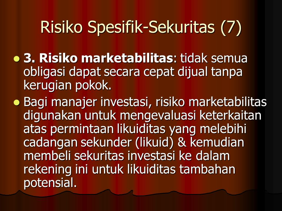 Risiko Spesifik-Sekuritas (7)
