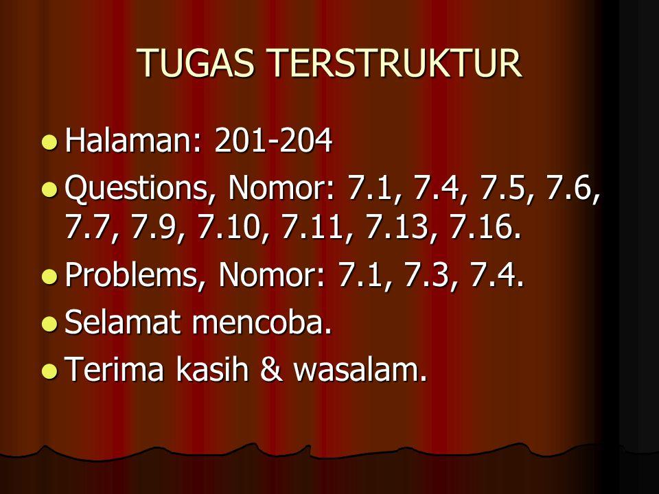 TUGAS TERSTRUKTUR Halaman: 201-204