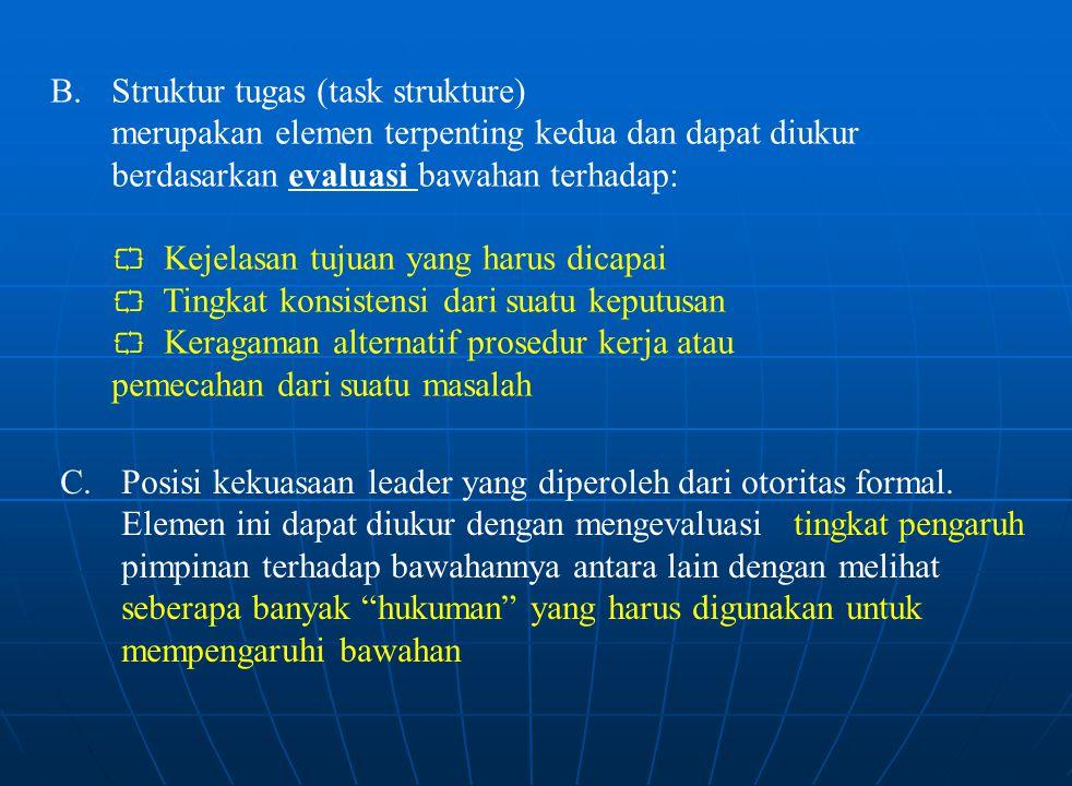 B. Struktur tugas (task strukture)